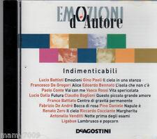 CD=EMOZIONI D'AUTORE=INDIMENTICABILI=BATTISTI-PAOLI-DE GREGORI-BENNATO-VASCO...