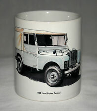 Classic Land Rover Mug. HUE 166 hand drawn illustration.