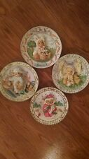 Cherished Teddies Collector Plates, Set of Four