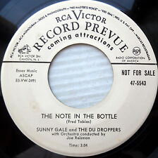 SUNNY GALE & Nu Droppers PROMO 45 Note in the bottle Moma's gone goodbye e9572
