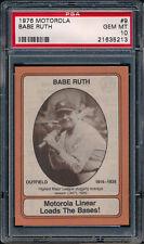 1976 Motorola #9 Babe Ruth PSA 10 (BB01)