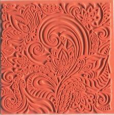 Texturmatte Floral 90 x 90 mm Oberflächengestaltung von Modelliermasse, Ton
