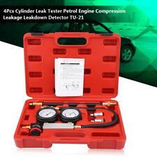 Cylinder Leak Tester Petrol Engine Compression Leakdown Detector Double Gauge
