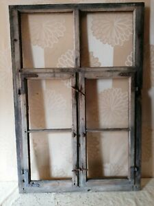 Fenster Holzfenster Sprossenfenster 63x92cm  2 Flügel ALT