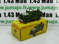 DT30E Voiture réédition DINKY TOYS atlas : 24M Jeep Militaire