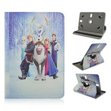 Universal 360°Rotary Cartoon PU Leather Stand Fold Case for 7