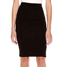 A. Byer Juniors Textured Ribbed Black Pencil Skirt MSRP $44.00 NEW Size M