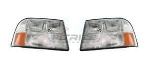New Set Of Two Head Light Assembly For 1998-2005 Gmc Jimmy GM2502174 GM2503174