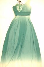 Ever Pretty Green One Shoulder Elegant Ruched Lace Long Evening Prom Gown Size 6