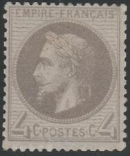 "FRANCE STAMP TIMBRE N° 27 b "" NAPOLEON III 4c GRIS LILAS "" NEUF xx TTB SIGNE"