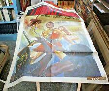LE SCHIAVE DI CARTAGINE (I RIBELLI DI ROMA) manifesto 2F originale 1957 ALLASIO