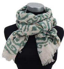 Damenschal hell beige grün by Ella Jonte new season scarf Leinen-Optik new in