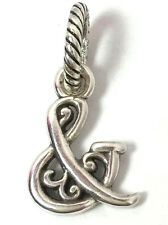 """Authentic Brighton  """"And"""" & Sign Charm, Silver Finish,  New"""