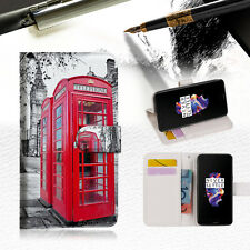 "British phone Booth Wallet TPU Case Cover For New 5.5"" Oneplus 5 Five-- A024"
