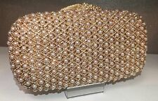 NIB Crystal Evening Bag Clutch Hand Bag made With Swarovski Elements Pearl