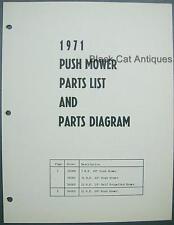 1971 MTD Push Mower Illustrated Parts List Model Nos. 56000, 56001, 56002, 56005
