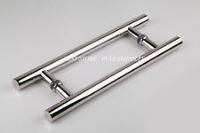 Polished Chrome Pull Handle Door Entry 24 inch Long Stainless Steel Entrance