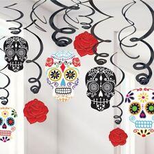 Halloween Day Of The Dead Swirls Skulls Hanging Swirl Party Decorations