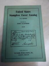 United States Stampless Cover Catalog 1952 Edition Harry M. Konwiser