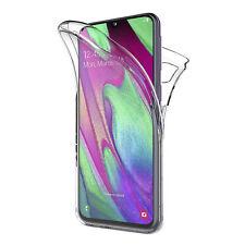 Cover Per Samsung Galaxy A40 Fronte Retro 360 Custodia Trasparente Silicone Slim