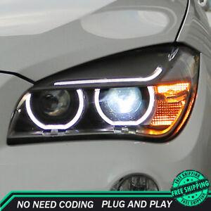 For BMW X1 E84 Headlight Assemblies 2013-2015 HID Xenon Beam Projector LED DRL