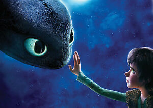 How to Train Your Dragon Giant Poster - A0 A1 A2 A3 A4 Sizes Available
