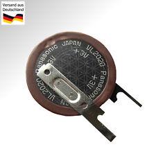 Ladbare PANASONIC VL-2020 Knopfzelle 3 Volt Lithium Stehend mit Lötfahne Print