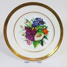 Porzellan Teller Blumen Schlesien um 1850 - 1880 AL421