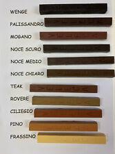 Bastoncino in cera colorata per restauro mobili, porte, oggetti in legno Veleca