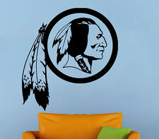 Washington Redskins Wall Decal NFL Vinyl Sticker Football Logo Emblem Home Decor