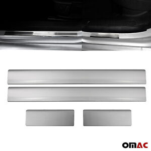 Fits Ford Focus 2000-2004 Chrome Door Sill Plate Stainless Steel 4 Pcs