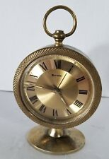 "Vintage Mechnical Alarm Clock Key Wind ""BULOVA"" Made In JAPAN 1960s"
