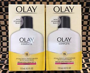 2 OLAY Complete UV 365 Moisturizer W Sunscreen SPF 15 Normal 4oz 12/20 04/21