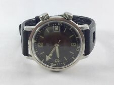 ) Rare Vintage Lip Nautic Automatic Calendrier Men's Watch Diver Swiss Used