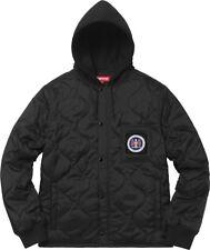 Supreme Quilted Liner Hooded Jacket Black
