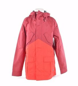 NWT MENS NIKE SB MID WEIGHT FISHTAIL SNOWBOARD JACKET $200 red on red