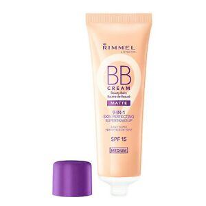 Rimmel BB Cream Matte 9-in-1 Skin Perfecting Super Makeup ~ Medium ~ Lot of 2***