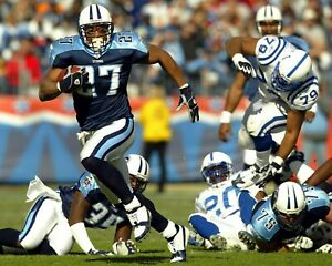 EDDIE GEORGE 8X10 PHOTO TENNESSEE TITANS PICTURE NFL FOOTBALL VS COLTS