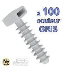 Embases à frapper GRIS Ø8mm pour colliers d'installation (pack de 100)