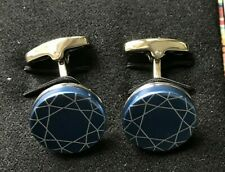 Paul Smith Blue Foil Patterned Cufflinks