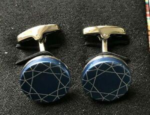Paul Smith Blue Foil Patterned Cufflinks