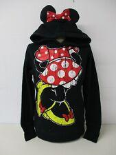 """Disney Minnie Mouse Con Capucha, Largo, Negro, Medio, 38"""" en el pecho, Size UK 16"""