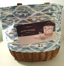 New listing Picnic Time Tote Basket with Accessories for Two