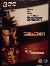 The Manchurian Candidate / Rules Of Engagement / The Sum Of All Fears (DVD,...