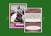 Dunc Wilson - Toronto Maple Leafs - Custom Hockey Card  - 1973-74