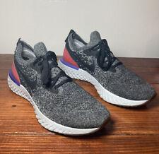 Nike Epic React Flyknit Men's Size 10 AQ0067-006 Red Orbit Gray Running Shoes