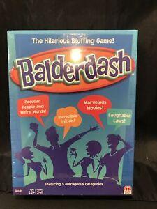 BALDERDASH 2014 The Hilarious Bluffing Game! Mattel Ages 12+ FACTORY SEALED
