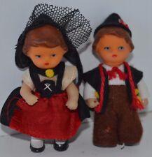 Vintage Miniature Plastic Dolls Man Woman Souvenir Figure