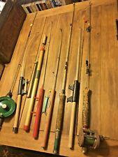 vintage ice fishing rods reels jig pole cork wood handle Ocean City Best Tackle