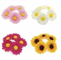 Flower Daisy Bun Ring Garland Hair Scrunchie Band Elastic Festival Dance